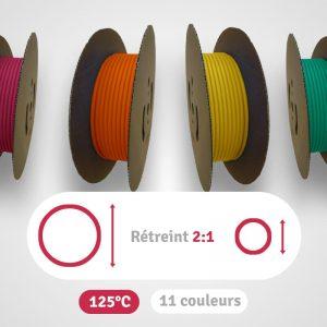 Image de catégorie des gaines thermos retreint 2:1 en bobines résistance à 125°C