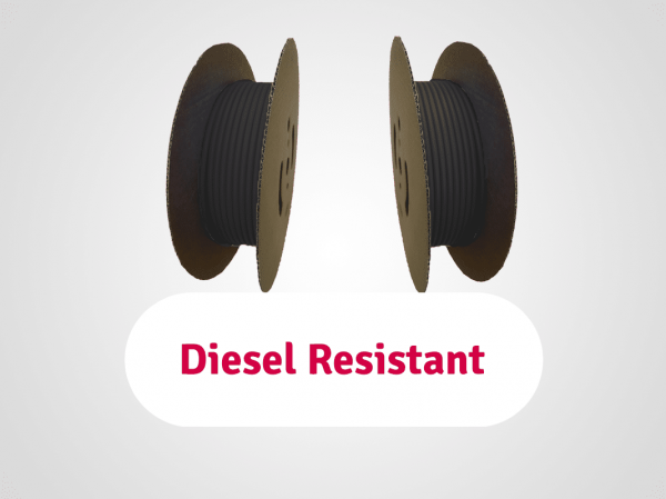 gaines diesel resistant en bobines noir de type sdr