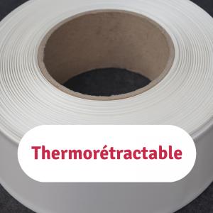 gaines en pvc thermorétractable de type sts