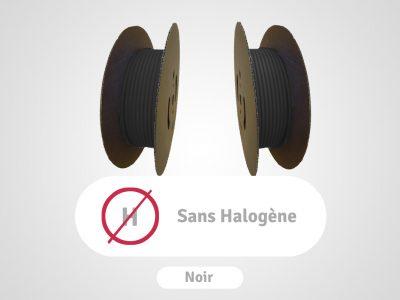 bobines de gaines sans halogène noir