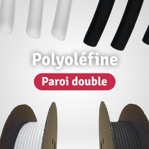 Gaines Polyoléfine Paroi Double Avec Adhésif