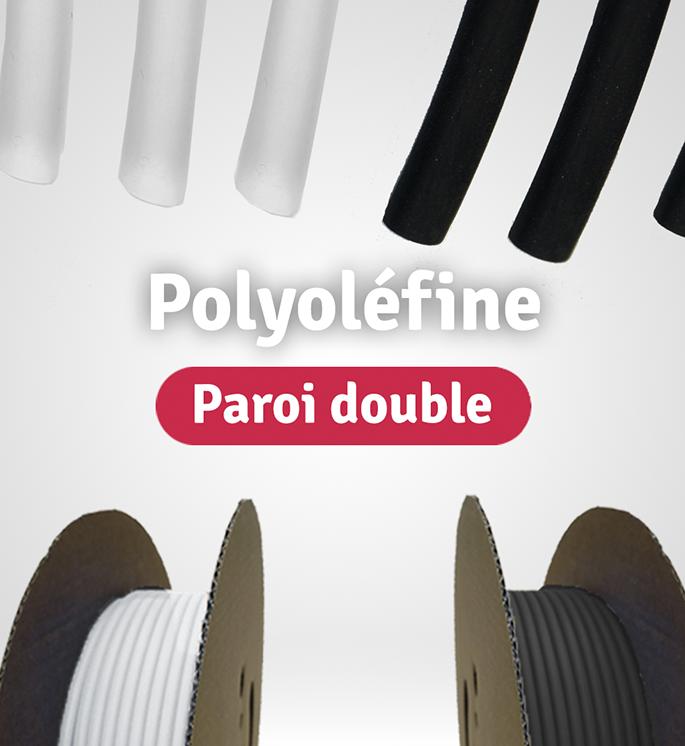 Gaines thermo polyoléfine à paroi double en bobines et en longueurs